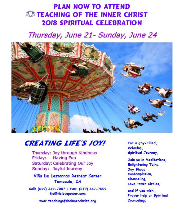 Spiritual Retreat 2018 - Creating Life's Joy